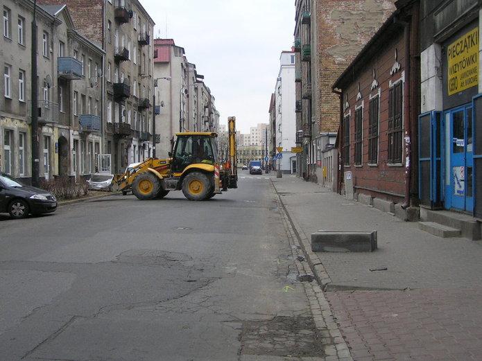 Remont ulicy Środkowej