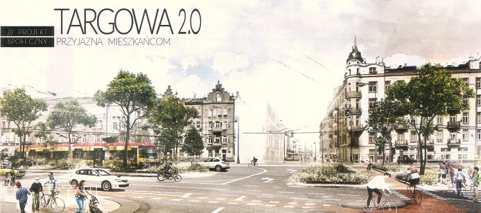Wizualizacja ulicy Targowej po zmianach, fot. materiały prasowe