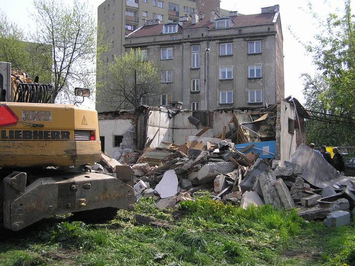 Radzymińska 51a i51b - Wyburzanie budynków