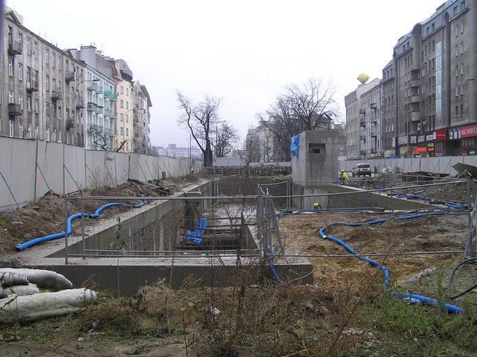 Budowa metra na Targowej