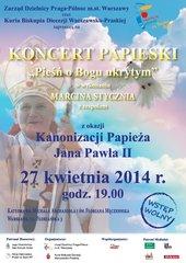 Koncert Papieski na Pradze Północ - plakat