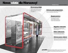 Wiata konkursowa autorstwa Towarzystwa Projektowego TePe, mat. ZTM Warszawa