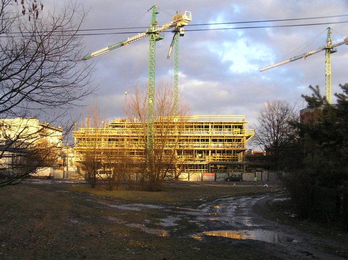 Budowa osiedla na Pradze Południe