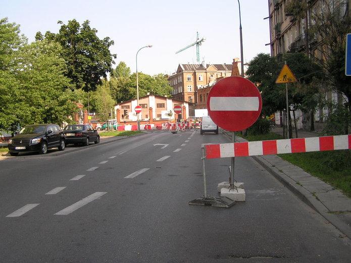 Zamknięta ulica Markowska