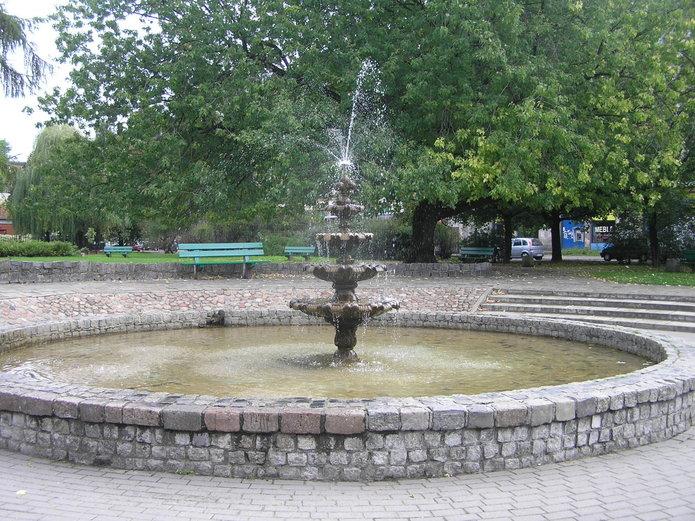 Fontanna na placu Hallera
