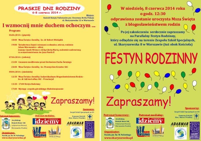 Praskie Dni Rodziny 2014 - plakat
