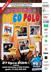 Festiwal Disco Polo wParku Praskim - plakat