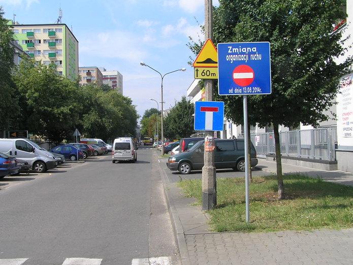 Ulica Kobielska jednokierunkowa