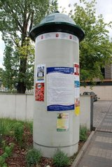 Nowe słupy ogłoszeniowe fot. UD Praga Południe