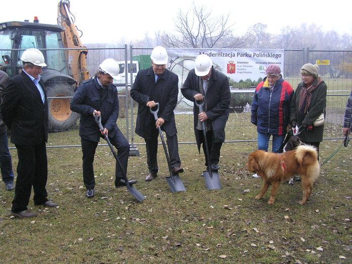 Początek przebudowy parku Polińskiego