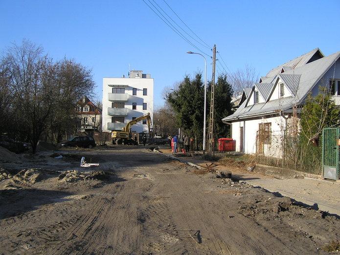 Budowa ulicy Łysogórskiej