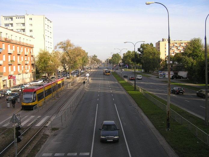 Widok zkładki na ulicę Grochowską