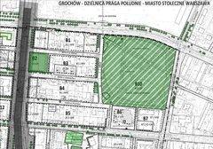 Fragment planu miejscowego zzaznaczoną ulicą Nowonizinną