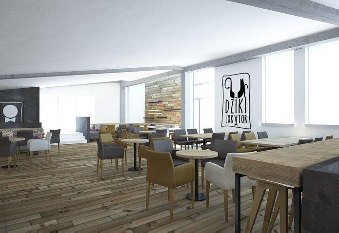 Wnętrze restauracji Dziki Lokator, fot. facebook.com/dzikilokator