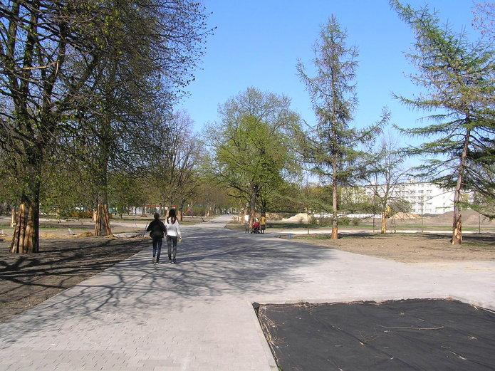 Trwa przebudowa parku Polińskiego na Grochowie