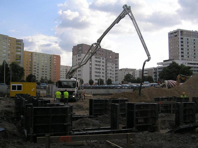 Bora-Komorowskiego - budowa sklepu Ldl