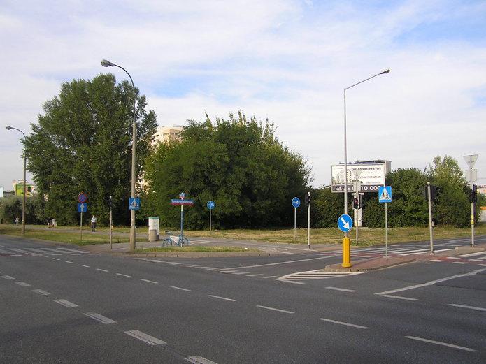 Miejsce pod planowaną szkołę na Gocławiu