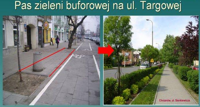 Pas zieleni buforowej na Targowej, fot. https://www.facebook.com/magda.gugala.1