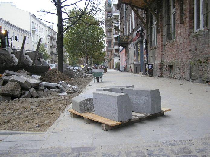 Remont chodnika na ulicy Jagiellońskiej