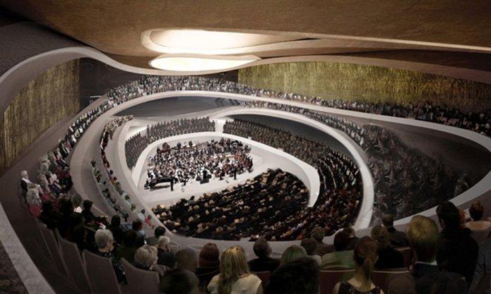 Wizualizacja projektu nowej siedziby Sinfonii Varsovii projektu Atelier Thomas Pucher, fot. materiały promocyjne Atelier