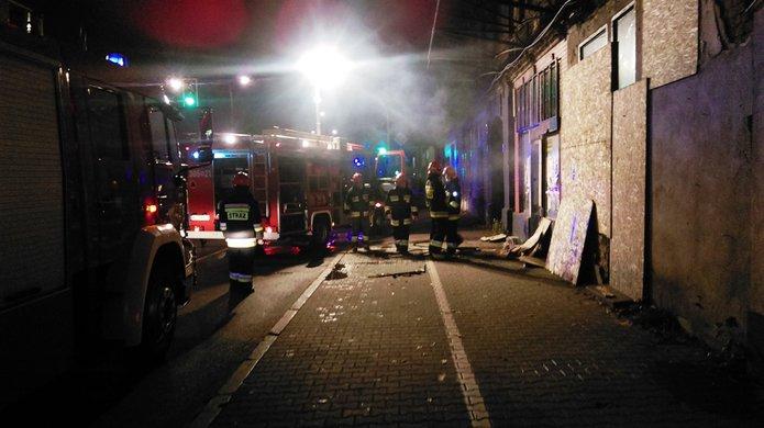 Pożar na Targowej 21, fot. mł. asp. Kazimierz Rybak