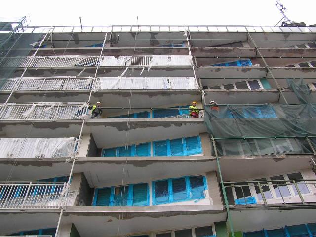 Remont balkonów na Targowej 42