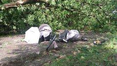 Zniszczony wózek, fot. Straż Miejska