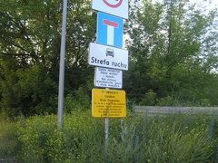 Znaki informujące oograniczaniach ruchu