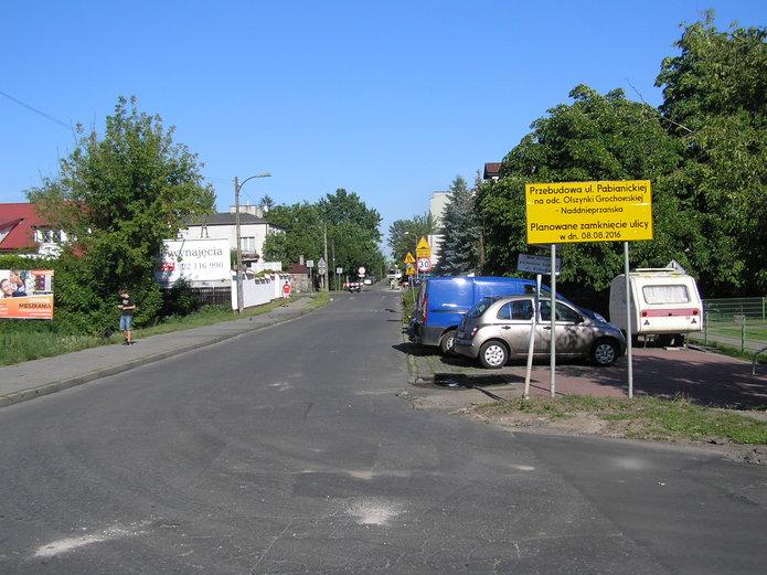 Trwa przebudowa Olszynki Grochowskiej iPabianickiej