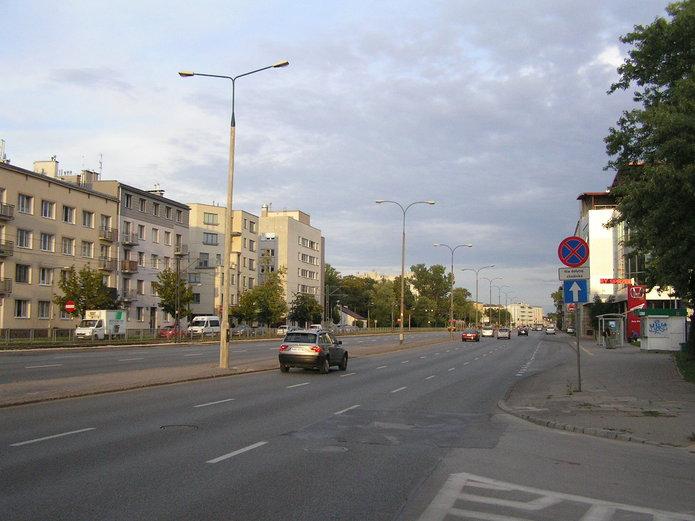 Latarnie na ulicy Grochowskiej