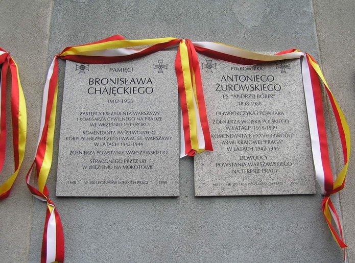 Tablica pamiątkowe na Urządzie Dzielnicy Praga Południe
