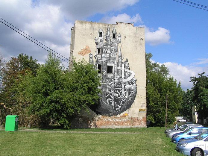Czy uda się zachować mural przy Mińskiej 12?