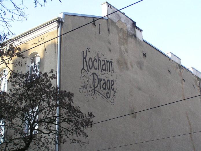 Mural Kocham Pragę przy Stalowej 25