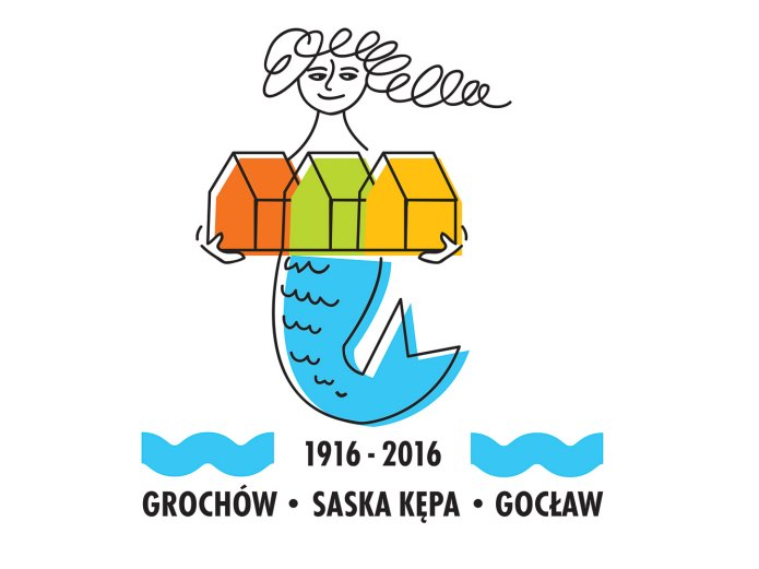 100-lecie Grochowa logotyp