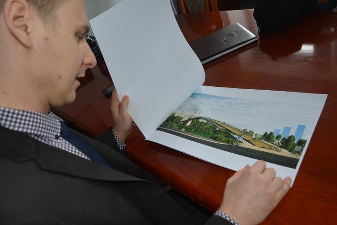 Wizualizacja kładki przez Wisłę, fot. UD