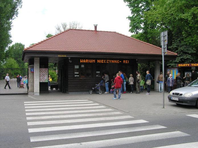 Wejście do ogródu zoologicznego na Pradze