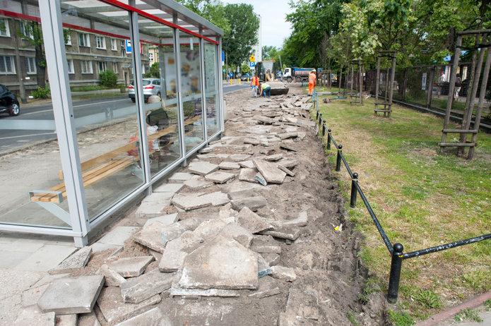 Prace remontowe na Namysłowskiej, fot. ZDM