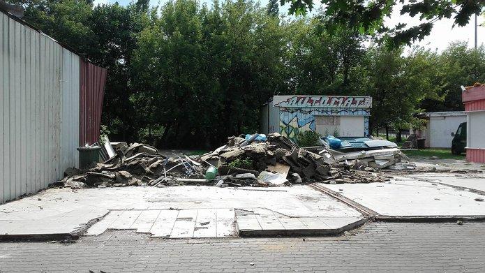 Likwidacja budek na Rondzie Starzyńskiego