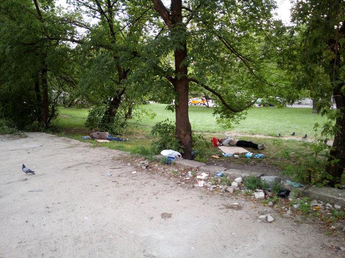 Bezdomni przy Rondzie Wiatraczna
