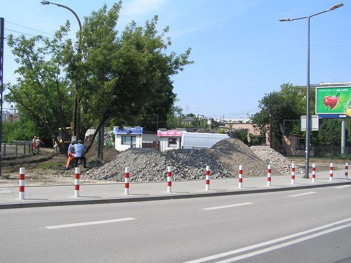 Budowa parkingu przy pętli Gocławek