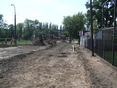 Budowa parkingu przy Grochowskiej