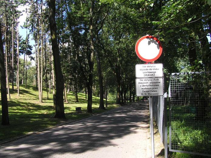 Zakazy wjazdu do Parku Skaryszewskiego