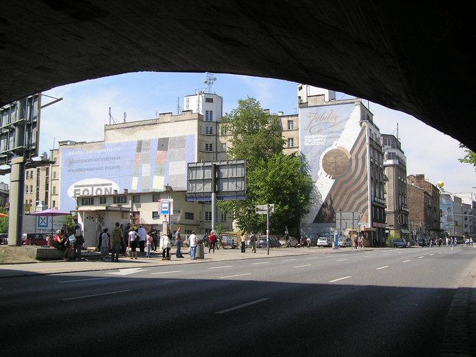 Ulica Targowa pod wiaduktem