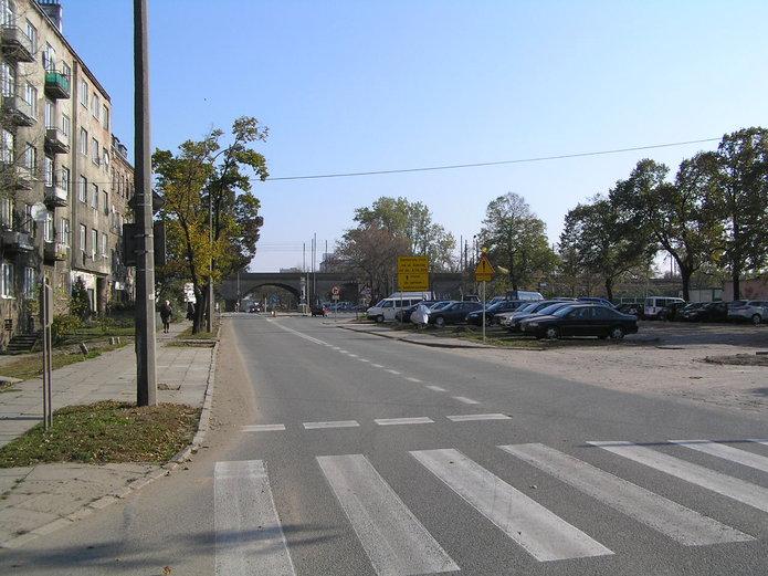 Ulica Zamoyskiego zamknięta