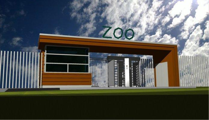 Wizualizacja nowego wejścia do ZOO