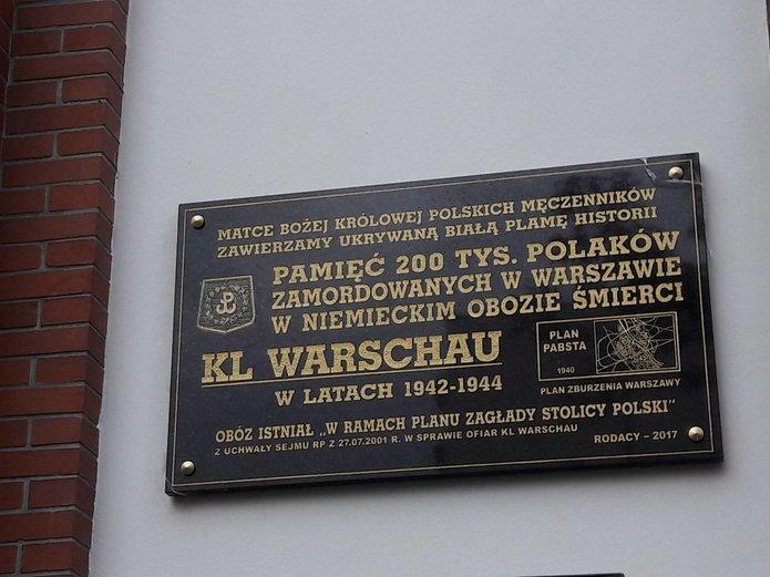Tablica upamiętniającą ofiary obozu zagłady KL Warschau, fot. Paweł Zalewski