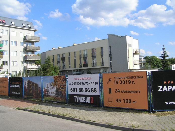 Apartamenty Zapałczana - plac budowy
