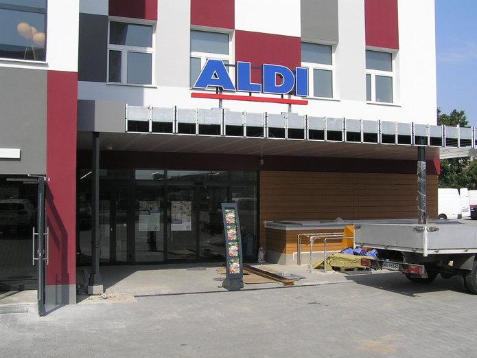 Piewszy sklep ALDI na Gocławiu wWarszawie