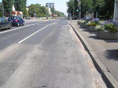 Ślad został ponownie pokryty asfaltem