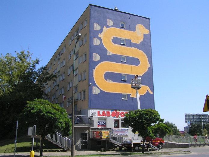 Mural przy Kijowskiej 11